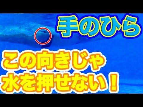 【クロール】楽に速く泳ぎたい!【ストロークでもっと進む】ためのポイント【腕・手のひらの向き】をチェック!