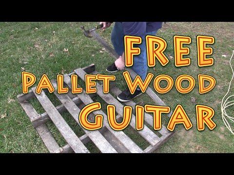Free Pallet Wood Guitar