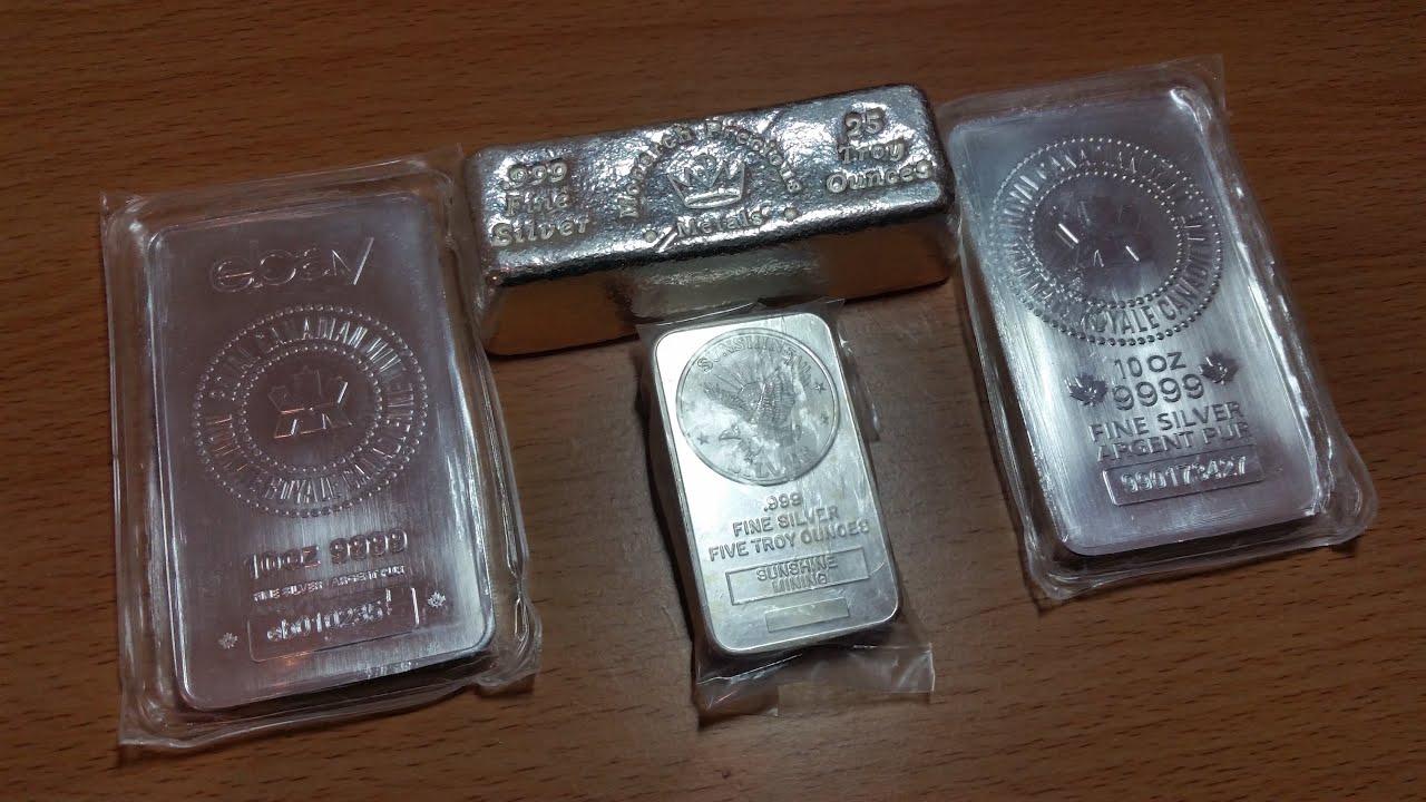 Huge Haul Of Silver Bars 50 Ounces