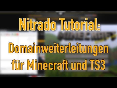 DomainWeiterleitungen Für Minecraft Und TS Nitrado Tutorial - Minecraft server erstellen nitrado kostenlos