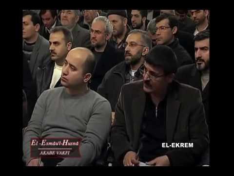 El Esmâu'l Hüsnâ Dersleri 18 (El Kerem) / Mustafa İslamoğlu