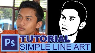 Tutorial Simple Line Art dengan Adobe Photoshop / Cara Membuat Line Art di Adobe Photoshop