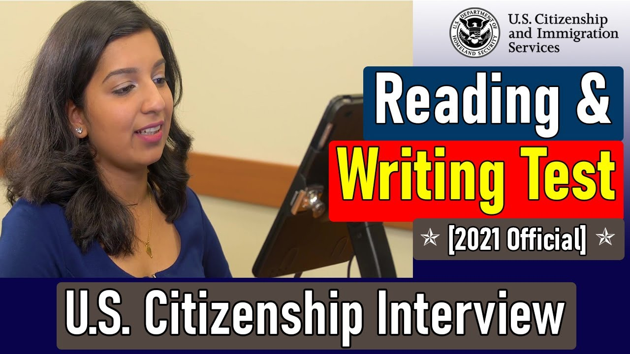 Practice US Citizenship Reading Test and Writing Test 2021 | N400 Practice Interview