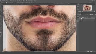 Уроки Photoshop - Создаем естественную щетину при помощи Photoshop