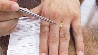 Fancy Intense Yellow Oval Diamond for engagement ring from Hawaii under usd 15000