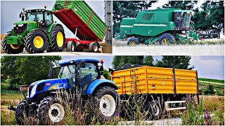 ㋡Żniwa pszenicy 2019 ㋡ GR Trzaska ㋡ John deere 6170R & New holland t6070 & John deere 1450 CWS㋡