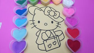 Colored Sand Painting Hello Kitty Toy for Kids |PINK GIRL