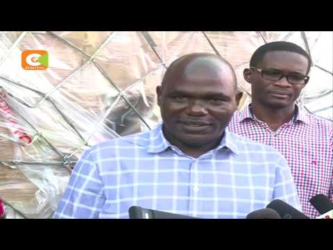 IEBC Chairman, commissioners receive kits at the JKIA