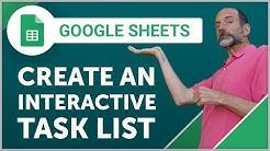 Google Sheets - Create an Interactive Task List