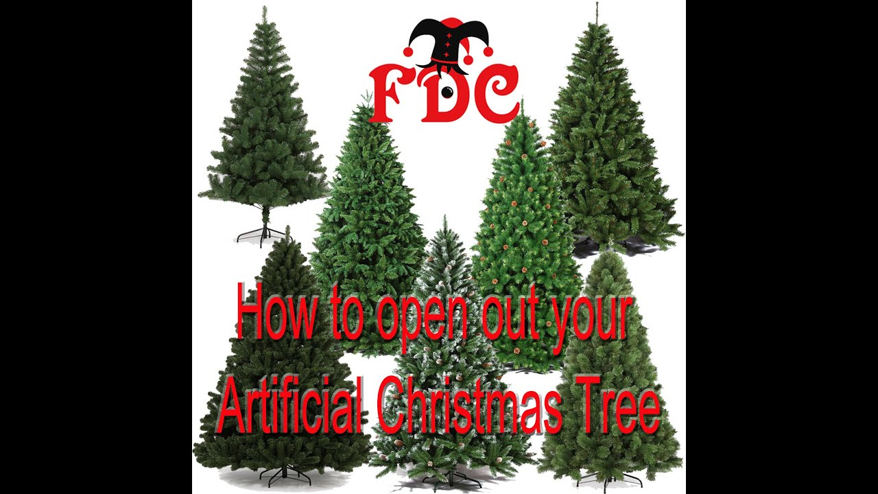 How to open Artificial Christmas tree branches - YouTube