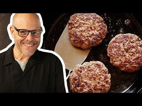 Alton Brown Makes a Burger of the Gods (FULL SEGMENT) | Food Network