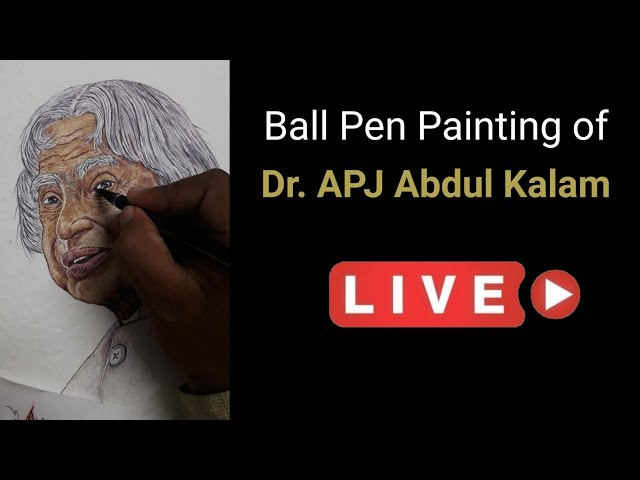 APJ Abdul Kalam | Ball Pen Painting by Vishal Garad