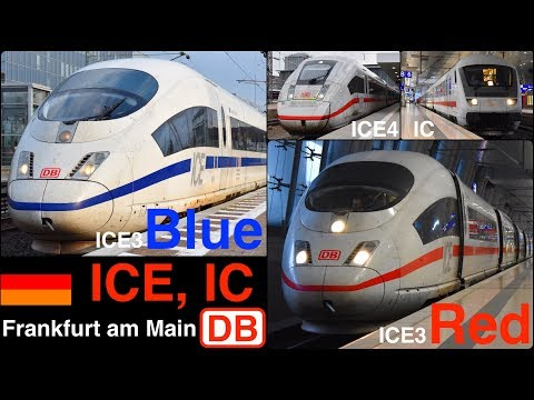 ICE running in Frankfurt am Main