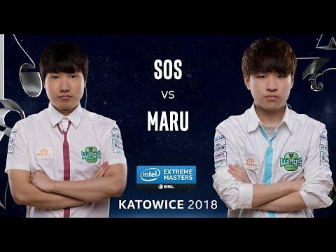 Starcraft II - sOs [P] vs. Maru [T] - Ro12 - IEM Katowice 2018