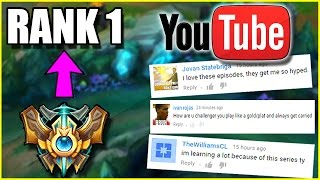 YOUTUBE HATE COMMENTS - Challenger to RANK 1 - Ep. 11.5   League of Legends