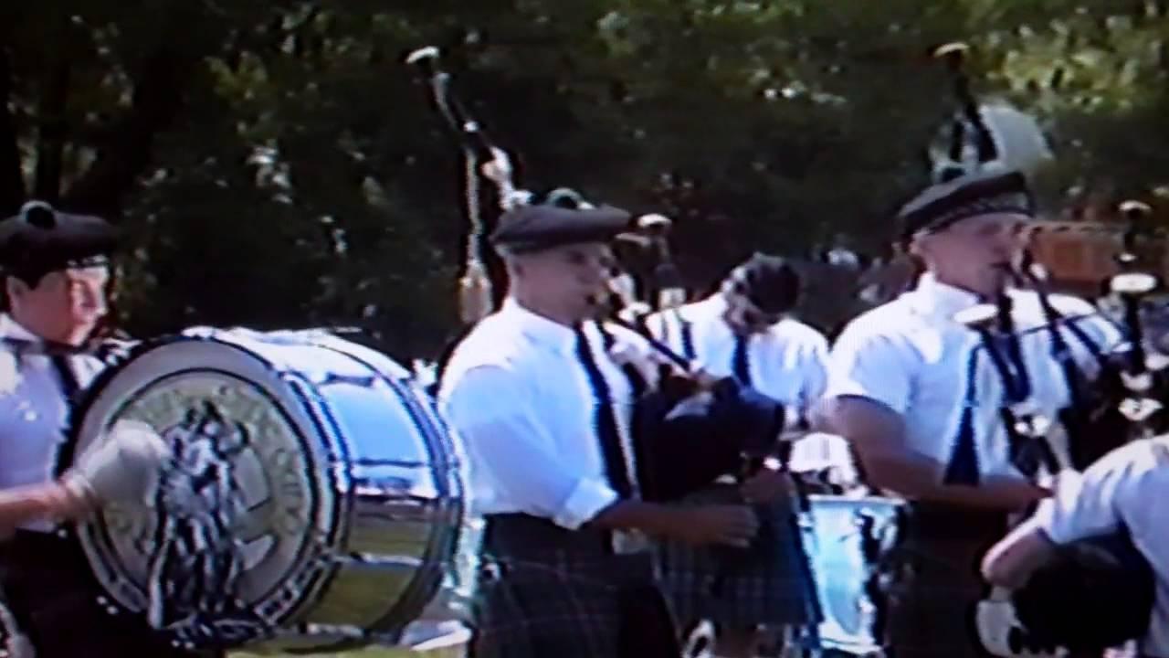 Cuchullain Pipe Band Garden State Arts Center 1992 Youtube