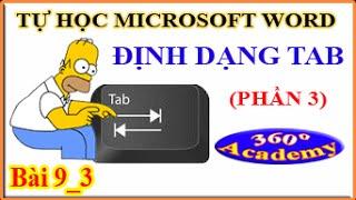 Tự học Microsoft Word - Bài 9_3: Định Dạng Tab (phần 3)