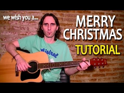 How To Play We Wish You a Merry Christmas on Acoustic Guitar / Video Tab Tutorial & Lesson TCDG