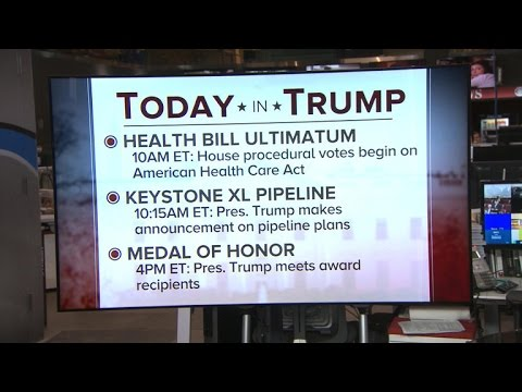 The Trump administration's agenda today: March 24