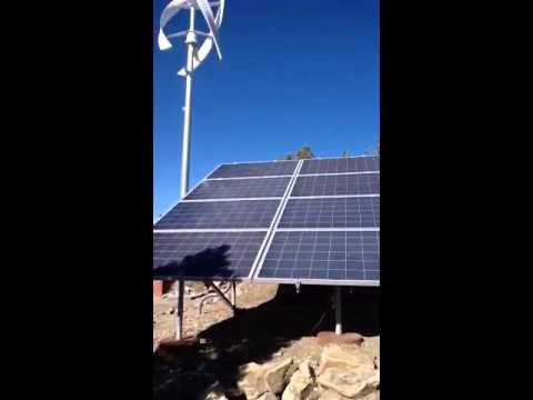Hybrid Solar and Wind Energy System, Big Bear California
