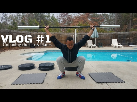 Vlog #1   Unboxing My new Rogue Barbell and bumper plates