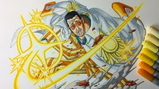 Drawing Admiral Kizaru (Borsalino) - One Piece