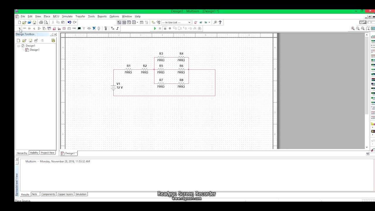 series parallel combination of resistors multisim youtube rh youtube com Multisim Circuit Design Software 555 Timer Multisim