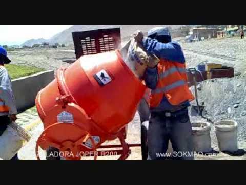 Mezcladora para concreto joper r200 sokmaq youtube - Mezcladora de cemento ...
