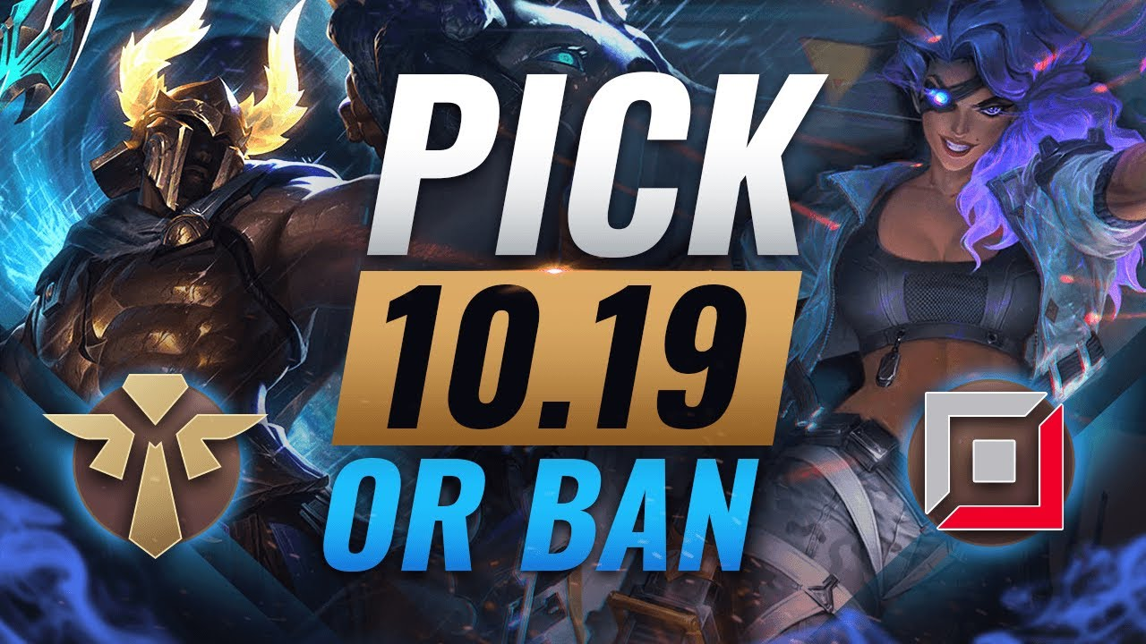 OP PICK or BAN: BEST Builds For EVERY Role - League of Legends Patch 10.19