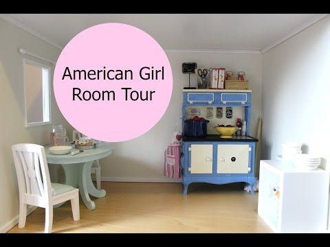American Girl Doll Room Tour   18-inch Dollhouse Kitchen