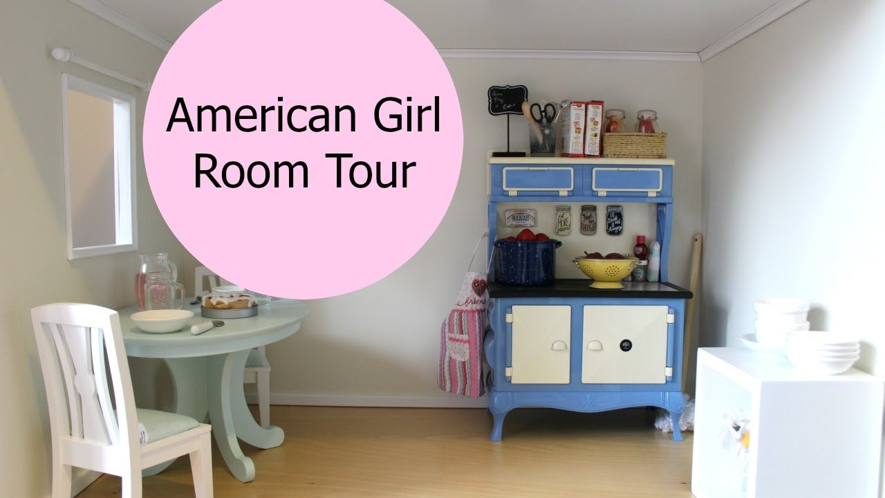 American Doll Room Tour 18 Inch Dollhouse Kitchen
