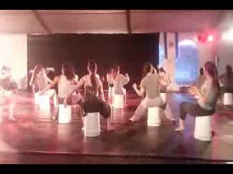 Keren is front and center going wild... Chanukah Sameach 5774 - 2013