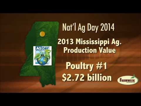 Agriculture worth billions to Mississippi economy National Ag Day Farmweek, March 21, 2104