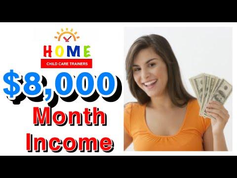 $8,000 A MONTH INCOME    HOME CHILD CARE DAYCARE