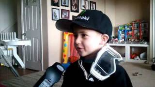 4 year old kid Supercross Interview