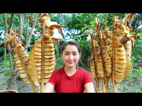 Yummy Squid Grilling Chili Sauce Homemade – Squid Grilling Recipe – Cooking With Sros