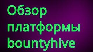 Обзор платформы bountyhive. Заработок без вложений.