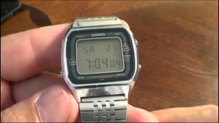 Casio A201 Module 103 Blue Thunder Watch