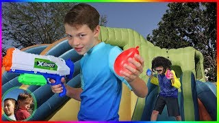 Hello Neighbor Epic Water Balloon Battle!  Bunch O Balloons!