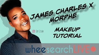 James Charles x Morphe Palette Swatches/Tutorial (LIVE)