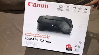 The Best Canon Printer On a Budget || Pixma MG3029 All In 1 Review/Unboxing
