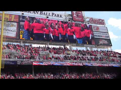 Bethany School Sings at the Reds Vs.Marlins Game 4-20-13