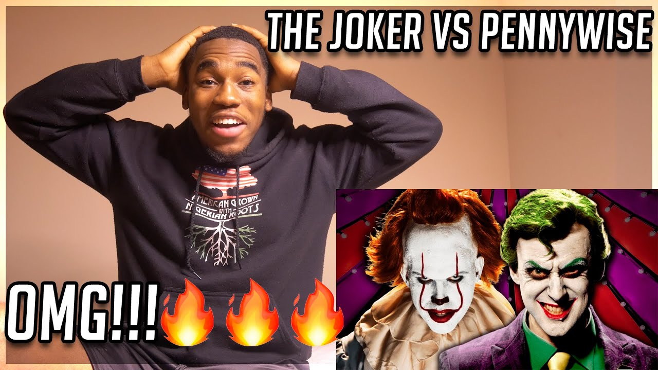 The Joker vs Pennywise. Epic Rap Battles Of History REACTION! *FIRST TIME LISTENING*