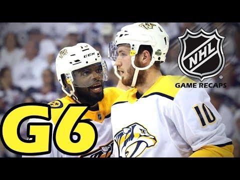 Nashville Predators vs Winnipeg Jets. 2018 NHL Playoffs. Round 2. Game 6. 05.07.2018. (HD)
