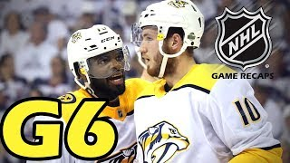Nashville Predators vs Winnipeg Jets. 2018 NHL Playoffs. Round 2. Game 6. 05.07.2018. (HD)