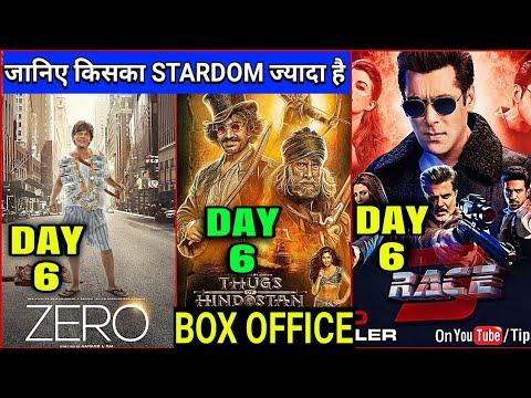 Zero vs Race 3 vs Thugs of Hindostan | Zero Box Office Collection Day 6,Shahrukh,Salman,Aamir,Zero