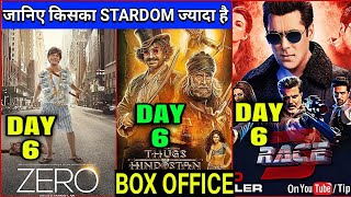 Zero vs Race 3 vs Thugs of Hindostan | Zero Box Office Collection Day 6,Shahrukh,Salman,Aamir,Zero