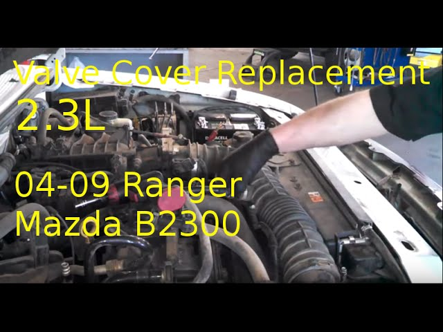 Valve Cover Gasket Replacement 2004 Ford Ranger 2 3l B2300 Install Engine Cover Gasket Youtube
