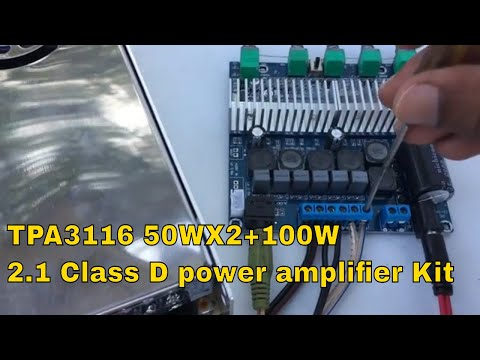 Douk Audio TPA3116 50WX2+100W 2 1 Class D Power Amplifier Kit Part 1
