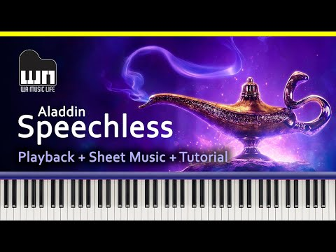 Speechless (Aladdin 2019) - Sheet Music + Tutorial + Playback thumbnail